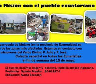 La Misión con el pueblo ecuatoriano