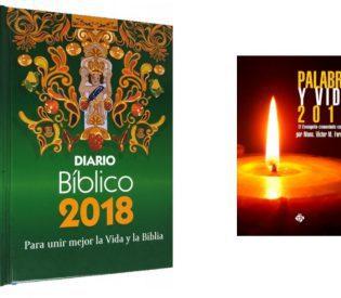 Venta de: Diario Bíblico 2018, Palabra y Vida 2018 y Biblias.