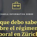 """Charla Informativa: Régimen laboral en Zürich"""". @ Misión Católica de Lengua Española Zürich"""