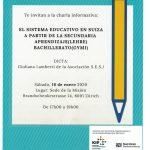 Charla de Información: El Sistema Educativo en Suiza