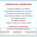 ATENCIÓN DE SECRETARÍA
