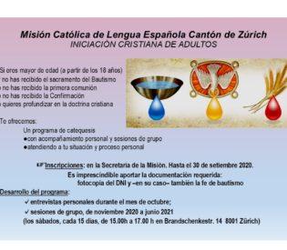 Iniciación Cristina de Adultos 2020/2021