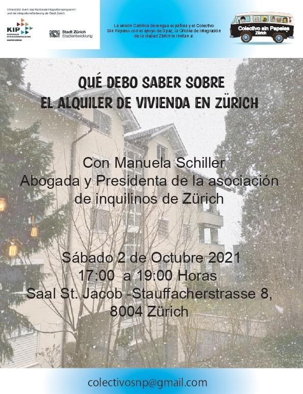 Charla Informativa: Qué debo saber sobre el Alquiler de vivienda en Zürich @ Saal St. Jacob